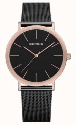 Bering Mens Classic Black Milanese Strap 13436-166