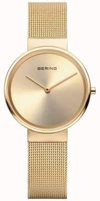 Bering Womans Classic Gold Milanese Strap And Sunray Dial 14531-333