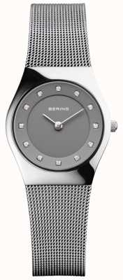 Bering Womans Classic Silver Milanese Strap Silver Polish Case 11927-309