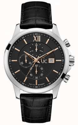 Gc Mens Executive Classic Black Chronograph Watch Y27001G2