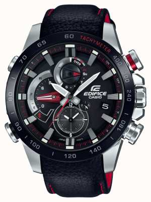 Casio Mens Edifice Bluetooth Triple Connect Alarm Chrono Black EQB-800BL-1AER