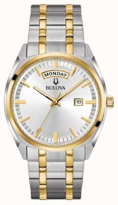 Bulova Mens Classic Two Tone Steel Bracelet 98C127