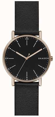 Skagen Mens Signatur Black Leather Strap SKW6401