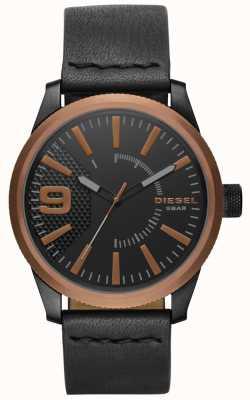 Diesel Mens Rasp Black Leather Watch DZ1841