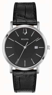 Bulova Mens Classic Black Leather 96B283