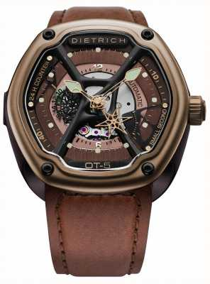 Dietrich Organic Time Bronze PVD Plated Case Brown Strap OT-5