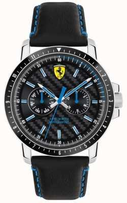 Scuderia Ferrari Turbo Black Leather Strap 0830448