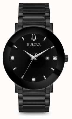 Bulova Mens Modern Diamond Watch Black 98D144