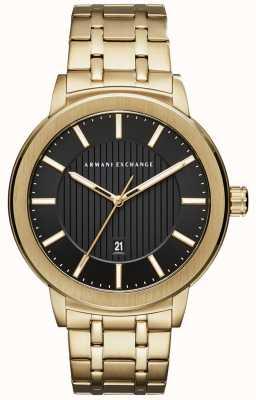 Armani Exchange Mens Gold Tone Metal Bracelet AX1456