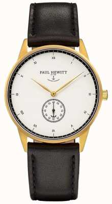 Paul Hewitt Unisex Signature Black Leather Strap PH-M1-G-W-2M