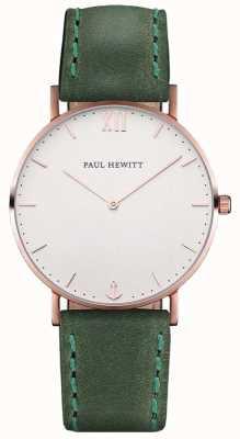 Paul Hewitt Unisex Sailor Green Leather Strap PH-SA-R-ST-W-12M