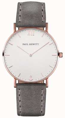 Paul Hewitt Unisex Sailor Grey Leather Strap PH-SA-R-ST-W-13M