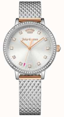 Juicy Couture Womans Socialite Watch Silver 1901612