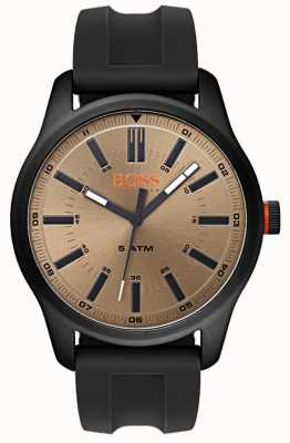 Hugo Boss Orange Mens Dublin Watch Black Rubber Strap 1550045