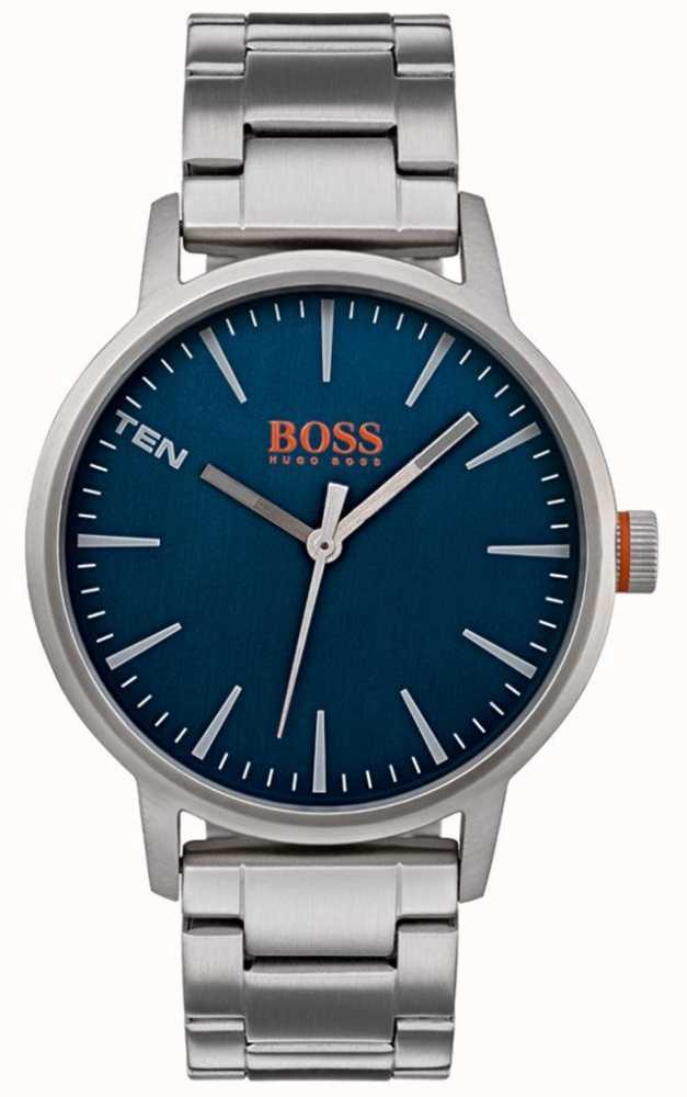 40e29f87591fd6 Hugo Boss Orange Mens Copenhagen Watch Blue Dial 1550058 - First ...