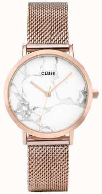 CLUSE Womans La Roche Petite Rose Gold Mesh Marble Dial CL40107
