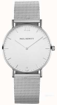 Paul Hewitt Unisex Sailor Silver Steel Mesh Bracelet PH-SA-S-SM-W-4M
