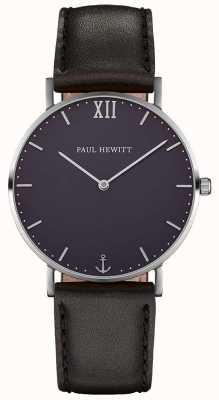 Paul Hewitt Unisex Sailor Black Leather Strap PH-SA-S-SM-B-2M