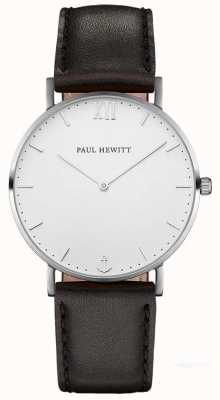 Paul Hewitt Unisex Sailor Black Leather Strap PH-SA-S-ST-W-2M