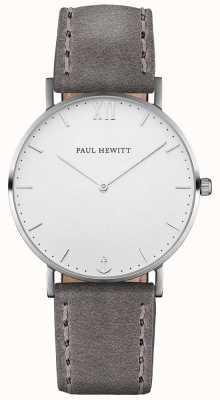 Paul Hewitt Unisex Sailor Grey Leather Strap PH-SA-S-ST-W-13M
