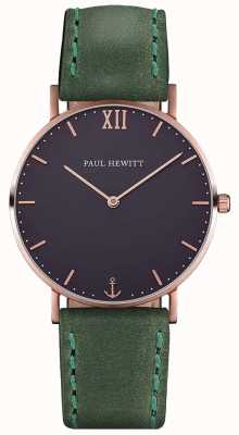 Paul Hewitt Unisex Sailor Green Leather Strap PH-SA-R-ST-B-12M
