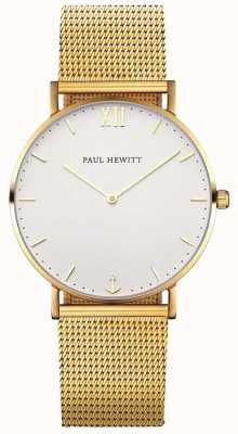 Paul Hewitt Unisex Sailor Gold Mesh Strap PH-SA-G-SM-W-4M