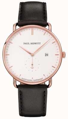 Paul Hewitt Unisex The Grand Atlantic Black Leather Strap PH-TGA-R-W-2M