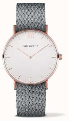 Paul Hewitt Unisex Sailor Grey Fabric Strap PH-SA-R-ST-W-18M