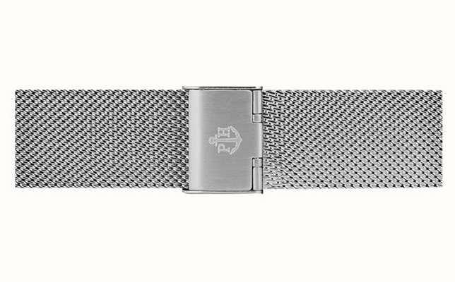 Paul Hewitt Silver Stainless Steel Mesh Bracelet 20mm Wide PH-M1-S-4S