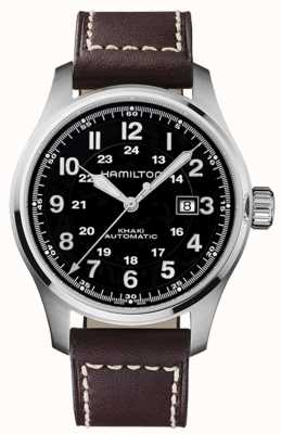 Hamilton Khaki Field Auto 44mm Brown Leather H70625533