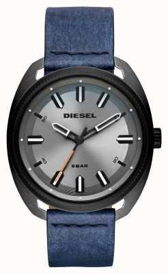 Diesel Mens Fastbak Denim-look Leather Strap DZ1838