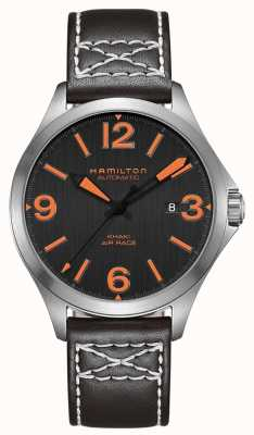 Hamilton Men Khaki Air Race Leather Strap Watch H76535731