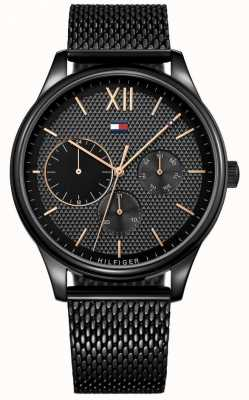Tommy Hilfiger Mens Damon Black IP Mesh Watch 1791420