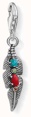 Thomas Sabo Ethnic Feather Sterling Silver Charm 1463-332-7