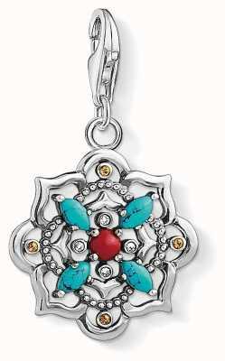 Thomas Sabo Ethnic Lotus Flower Sterling Silver Charm 1465-334-7