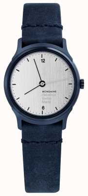 Mondaine Womans Helvetica No.1 Light Indigo Leather Watch MH1L1110LD
