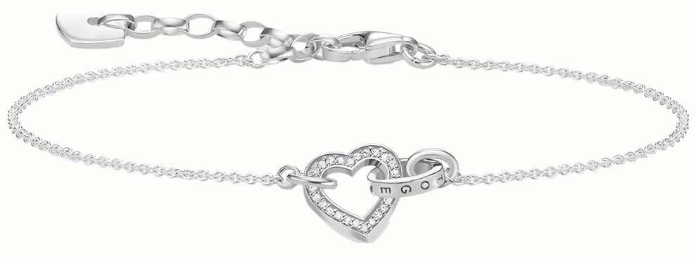 Thomas Sabo Sterling Silver Together Heart Bracelet A1648-051-14-L19V