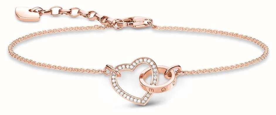 Thomas Sabo Rose Gold Plated Together Bracelet A1730-416-14-L19V