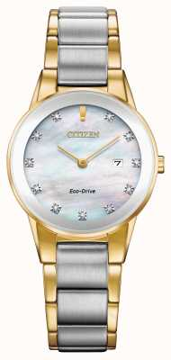 Citizen Womens Axiom Diamond Date Two Tone GA1054-50D