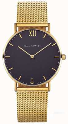 Paul Hewitt Unisex Sailor Line 39mm Gold Mesh Bracelet PH-SA-G-ST-B-4M