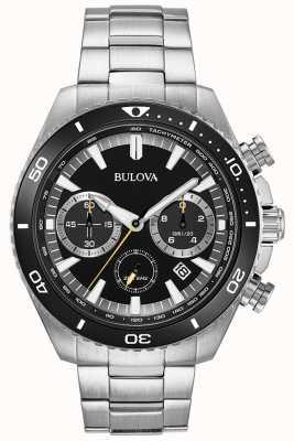Bulova Mens High Performance Black Chronograph Watch 98B298