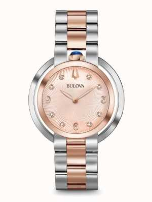 Bulova Women's Rubaiyat Two Tone Rose Gold Watch 98P174