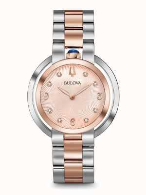 Bulova Women's Rubaiyat Two Tone Rose Gold Watch 98P174