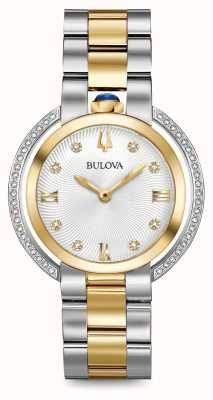 Bulova Womans Rubaiyat Two Tone Diamond Watch 98R246