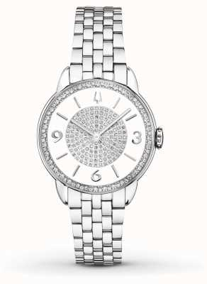 Bulova Womans Stainless Steel Bracelet Diamond Watch 96R184