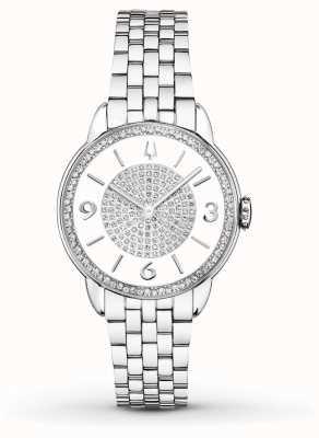 Bulova Womans Stainless Steel Bracelet Diamond Watch 96R184
