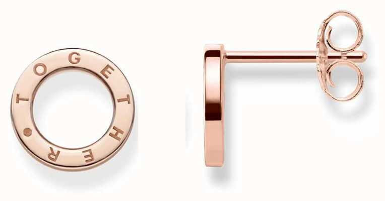 Thomas Sabo Rose Gold Circle Together Studs H1946-415-12