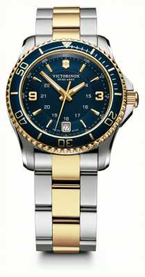 Victorinox Swiss Army Womens Maverick Two Tone Bracelet Blue Dial 241790