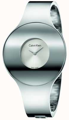 Calvin Klein Womans Silver Steel Seamless Watch Medium K8C2M116