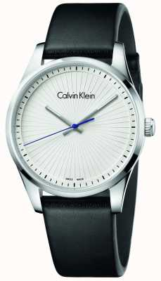 Calvin Klein Unisex Steadfast Watch Black Leather K8S211C6